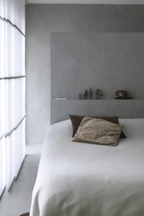 Murs chambre en béton ciré Gris Perle