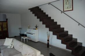 escalier béton ciré droit sur mesure