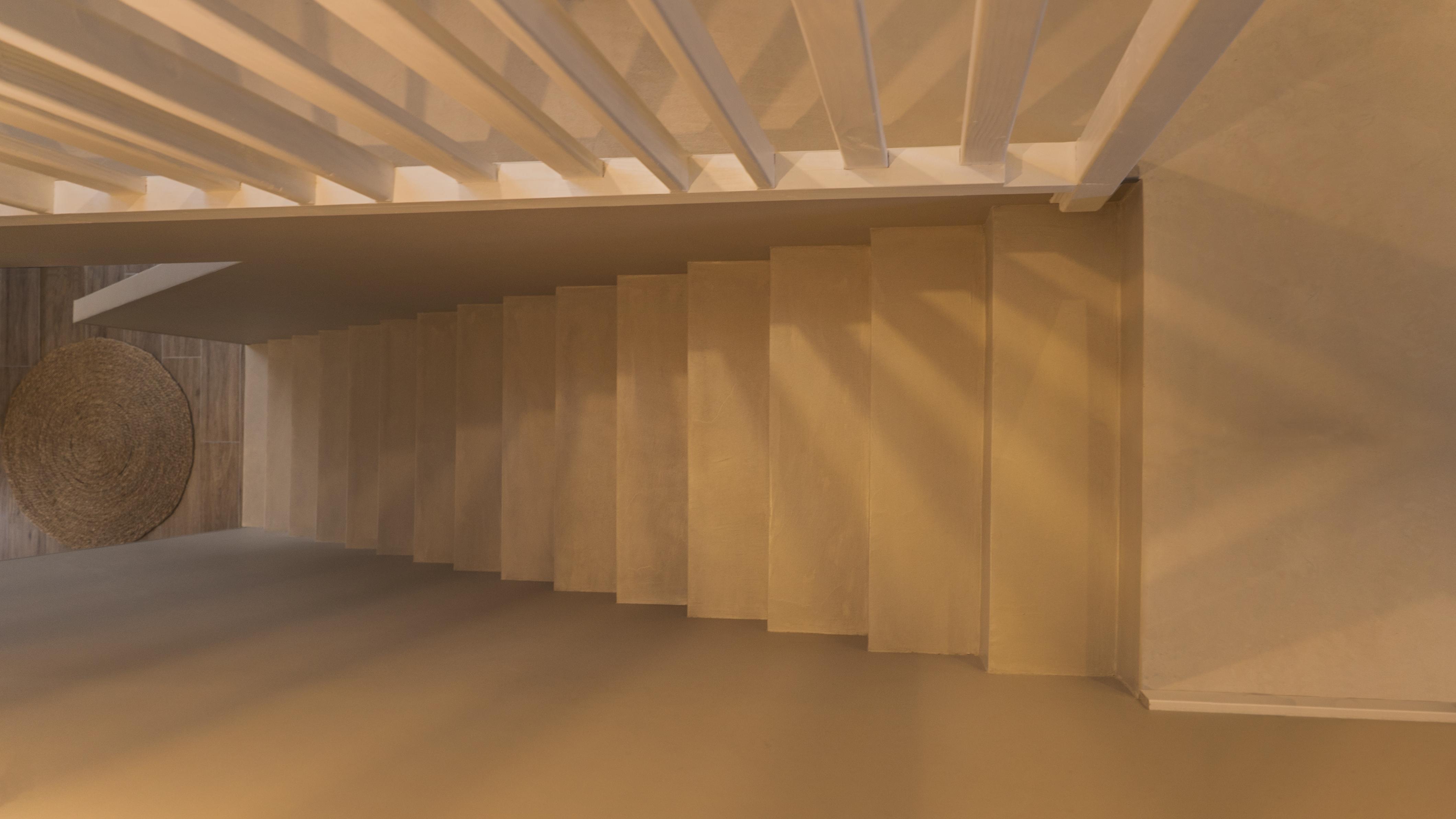Vernis Pour Marche Escalier décoration marches d'un escalier à paillasse en béton ciré
